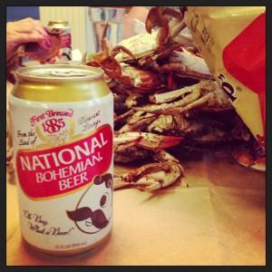 Natty Boh and Crabs