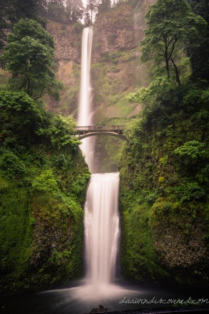 multnomah falls, bridal veil, or