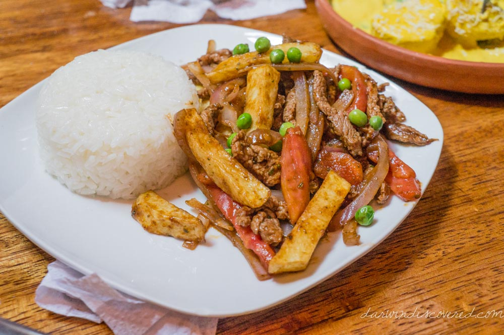 Lomo Saltado at Kusikuy in Cusco, Peru