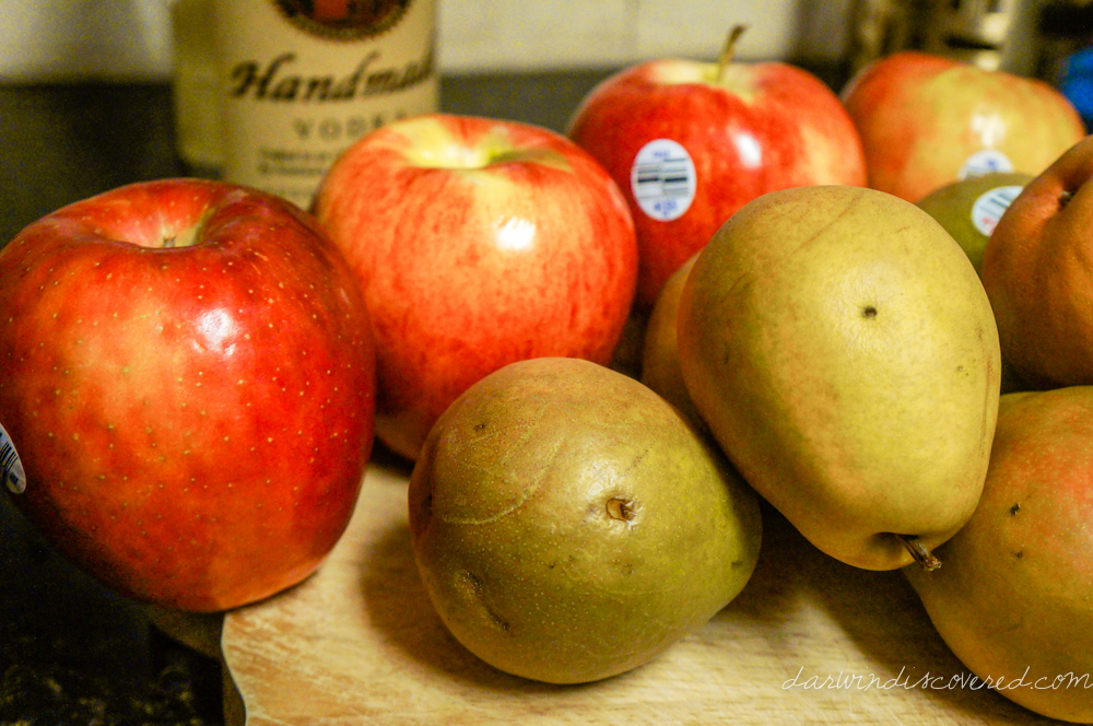 Homemade Apple- and Pear-Infused Vodka