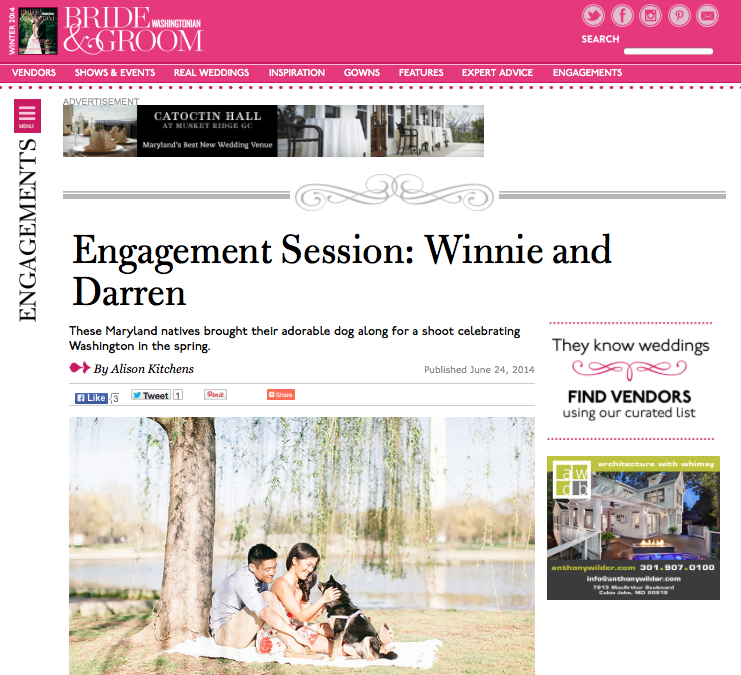 Our Engagement Photos on the Washingtonian